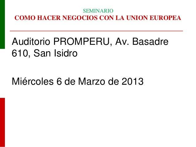 SIICEX - Oportunidades Italia 2013