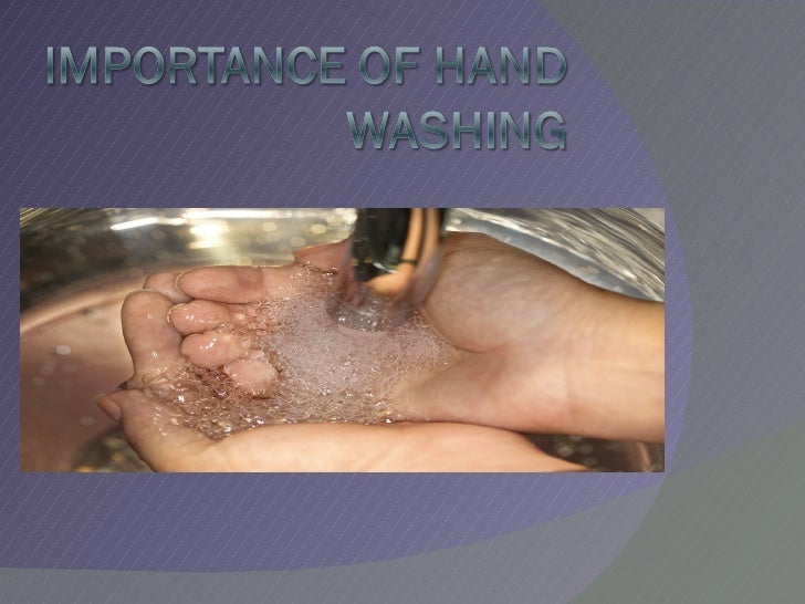 Importance of Handwashing