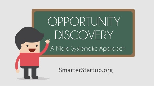 SmarterStartup.org   OPPORTUNITY DISCOVERY A More Systematic Approach