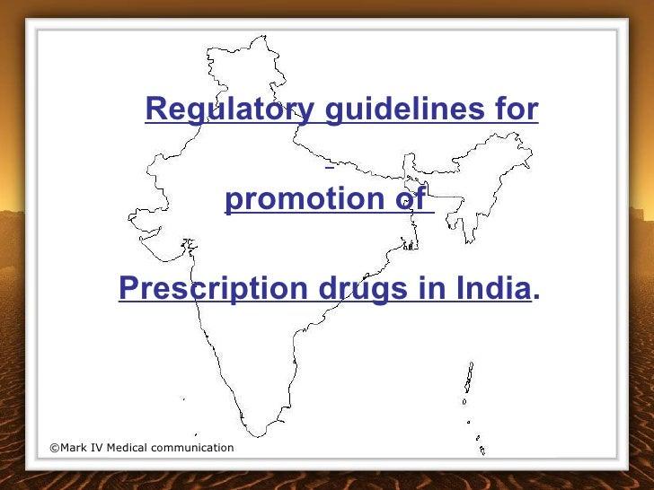 Guidelines for prescription drug marketing in India