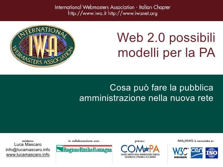 Opportunità della Pubblica Amministrazione nel Web 2.0