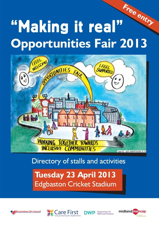 Opportunities fair booklet 2013
