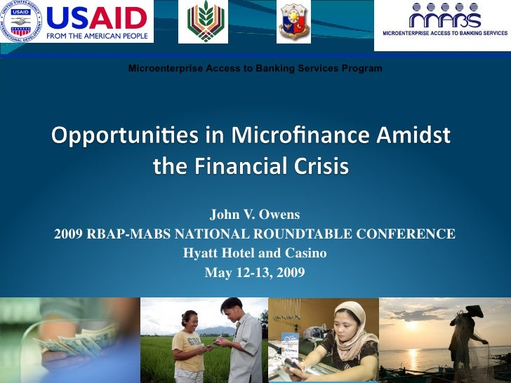 Opportunities In Microfinance Amidst The Global Financial Crisis