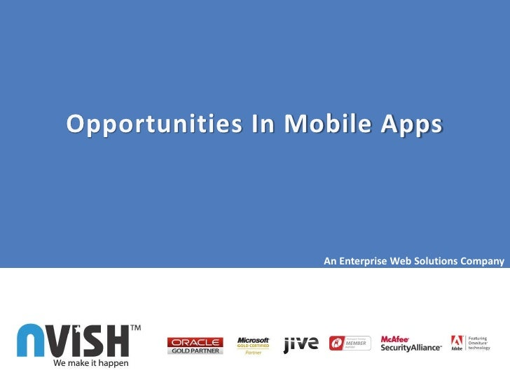 Opportunities In Mobile Apps                   An Enterprise Web Solutions Company