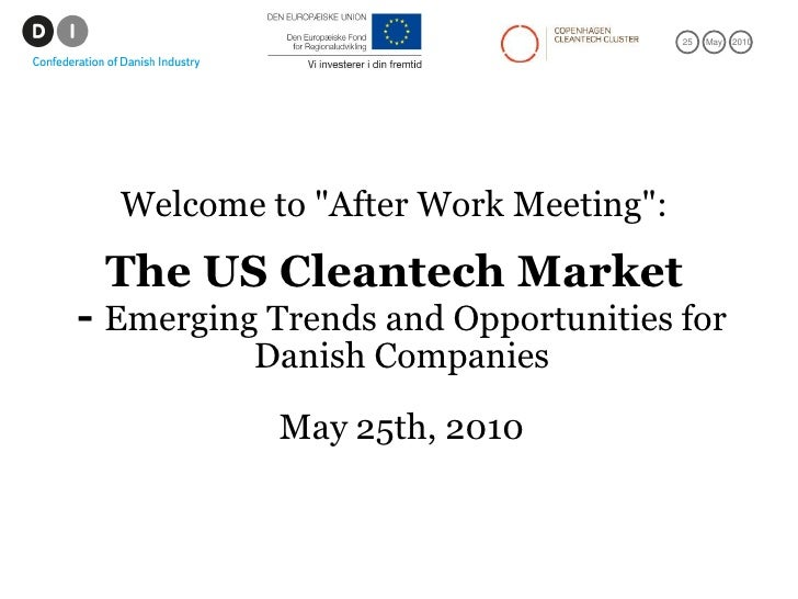 Opportunities in the us cleantech market