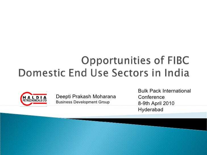 Opportunities of fibc for indian market