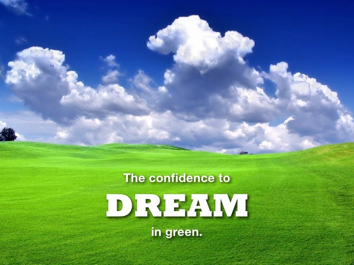 The confidence to  DREAM     in green.
