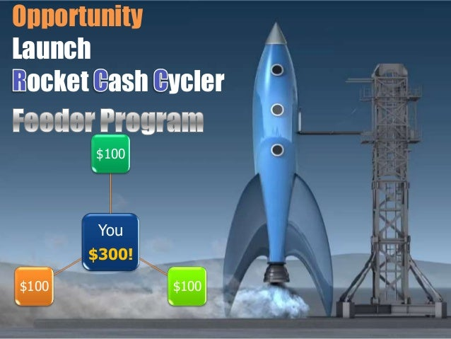 OpportunityLaunch ocket ash ycler       $100        You       $300!$100           $100