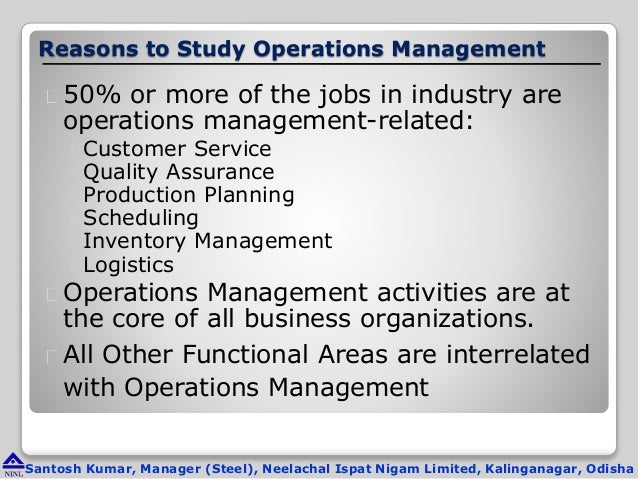 operations management case study Production and operations management case studies case 1: product development risks you have the opportunity to invest inr 100 billion for your company to develop a.