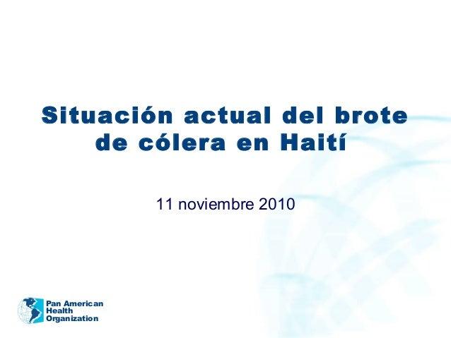Ops   Presentación situacion del cólera en haiti 10-2010