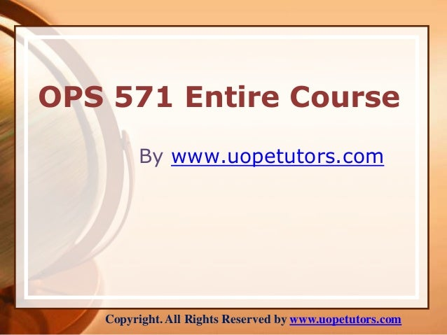 ops hc 571 management recommendation