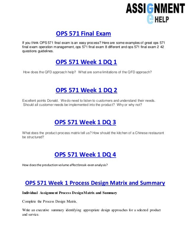 ops 571 week 1 service design matrix Ops 571 week 1 quiz servicecustomer facing employees who only talk to rich customerspoor customer service5 according to the service system design matrix.