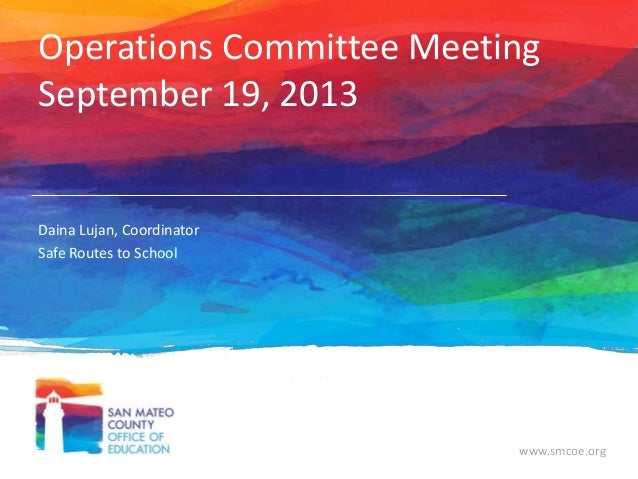 Operations Committee Meeting 9-19-13