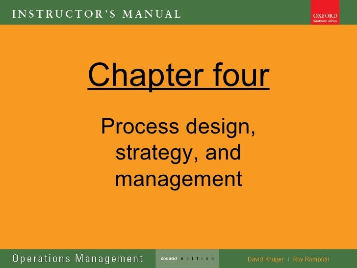 Chapter fourProcess design, strategy, and management