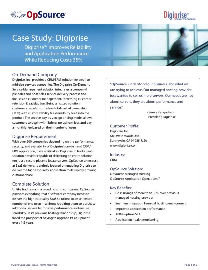 Case Study: Digiprise            Digiprise™ Improves Reliability            and Application Performance            While R...