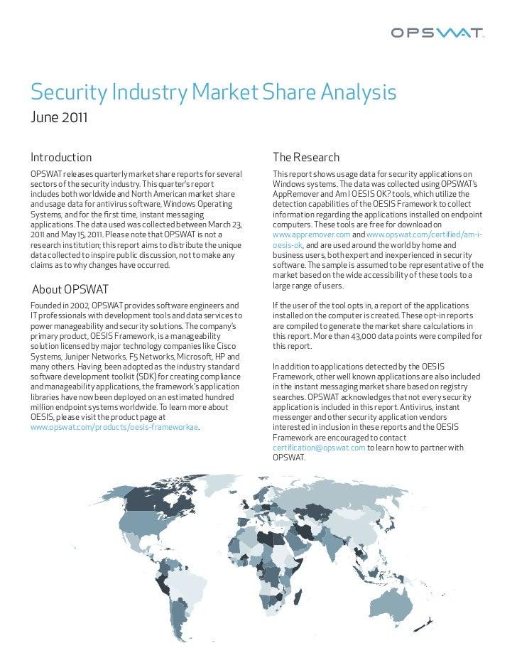 Opswat Pazar Payı Raporu / Haziran 2011