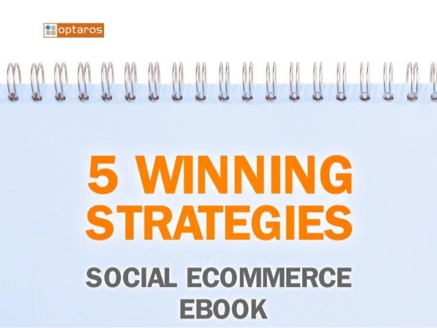 5 Winning Strategies - Social Ecommerce Ebook