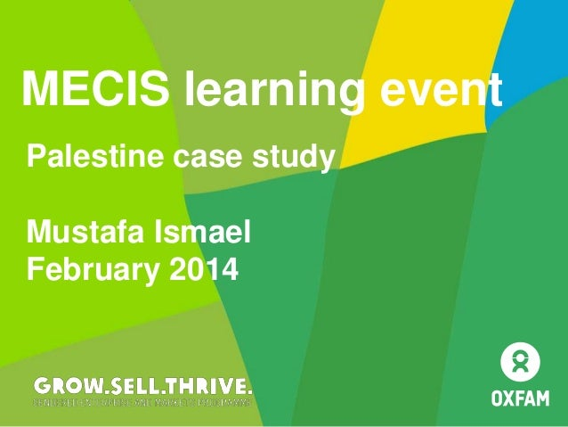 Palestine case study Mustafa Ismael February 2014 MECIS learning event