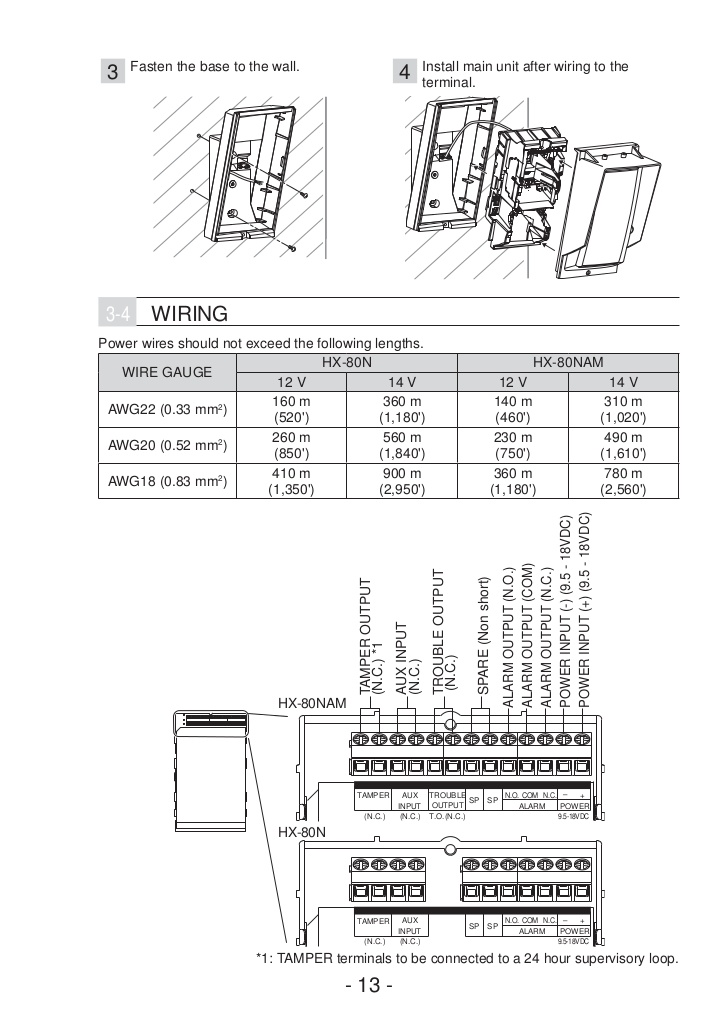 Optex instrukcja-hx80n-am