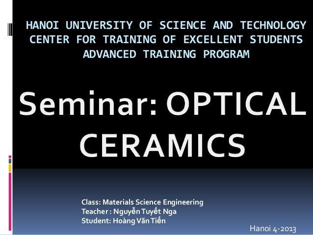 Optical ceramics