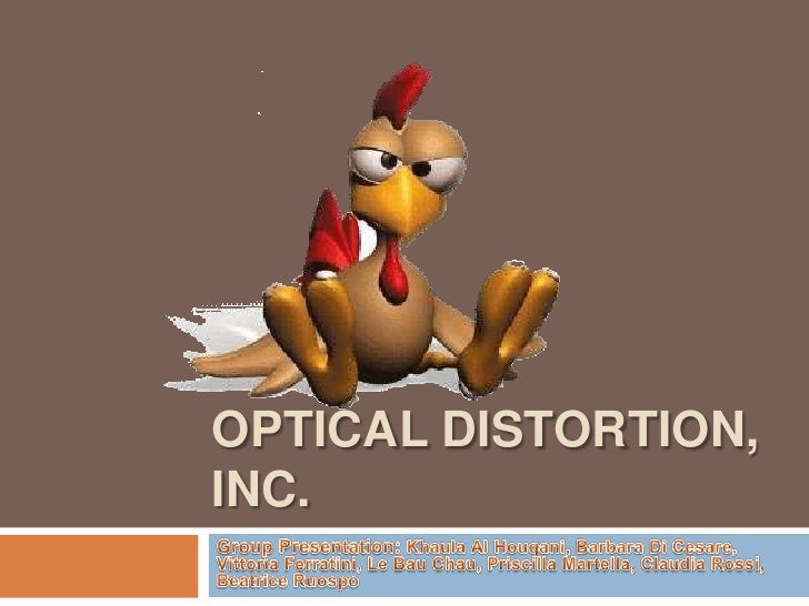 optical distortion inc odi 10062018 a new product, contact lenses for chickens, is to be introduced by a small firm formed to market the product an entry strategy must be planned including.