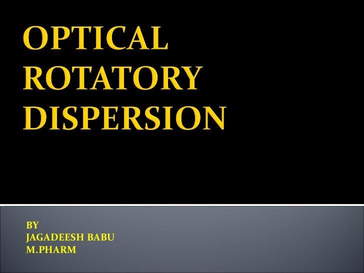 Opticalrotatory dispersion