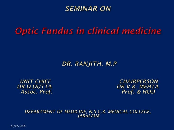Optic fundus in clinical medicine