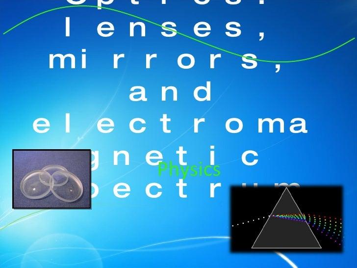 Optics: lenses, mirrors, and electromagnetic spectrum Physics