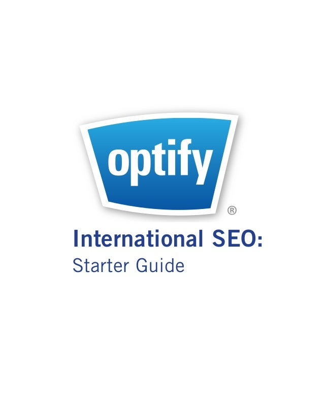®Marketing in Real Time  International SEO:  Starter Guide