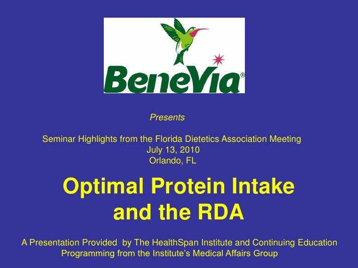 Optimal Protein Intake & The Recommended Daily Allowance (RDA)