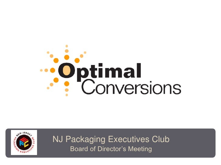 NJ Packaging Executives Club<br />Board of Director's Meeting<br />