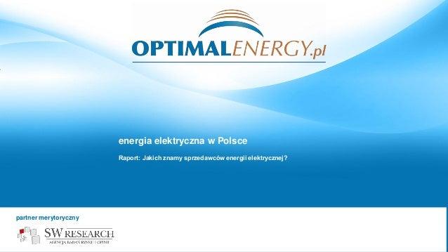 Optimalenergy swresearch Znajomość sprzedawców energii