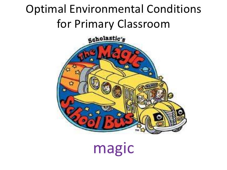 Optimal environmental conditions for primary classroom