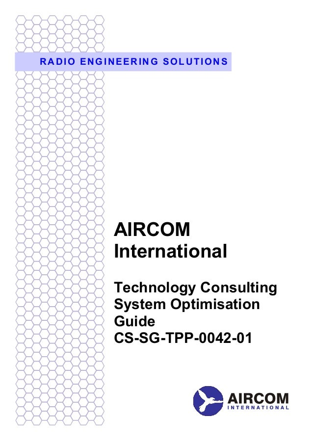 RADIO ENGINEERING SOLUTIONS          AIRCOM          International          Technology Consulting          System Optimisa...