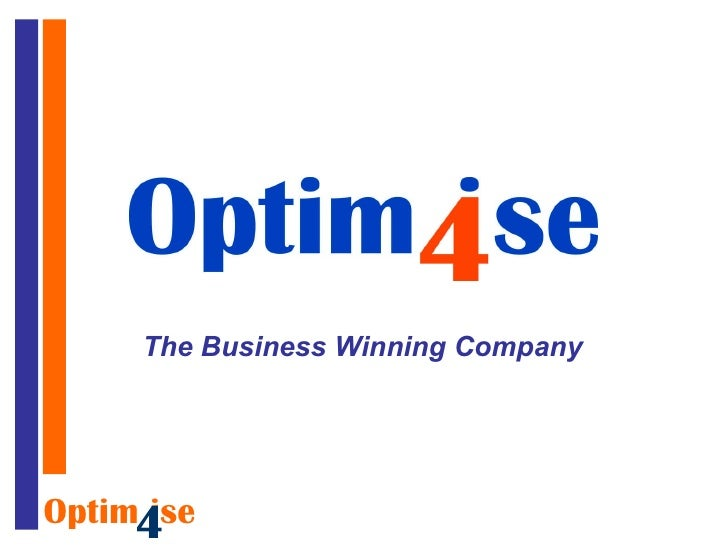 Optimise4 Value Presentation