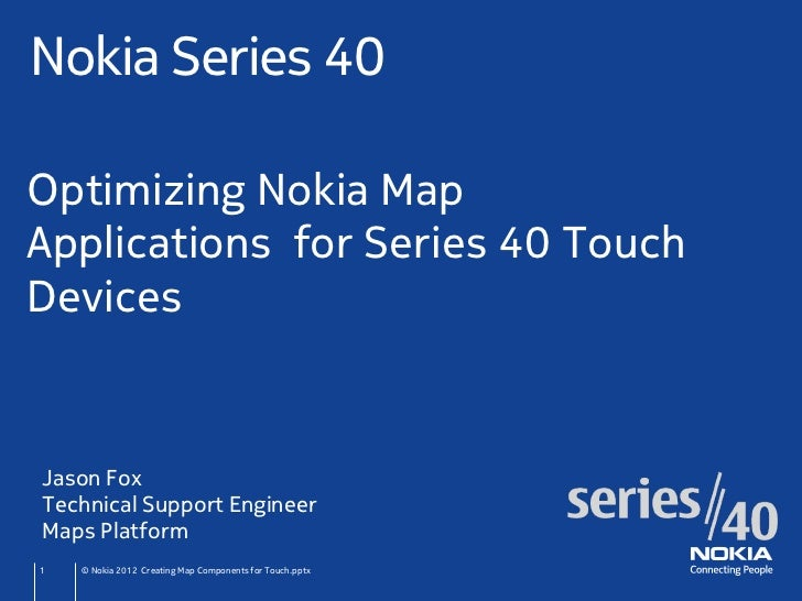 Optimise Nokia Maps applications for Nokia Asha Touch phones