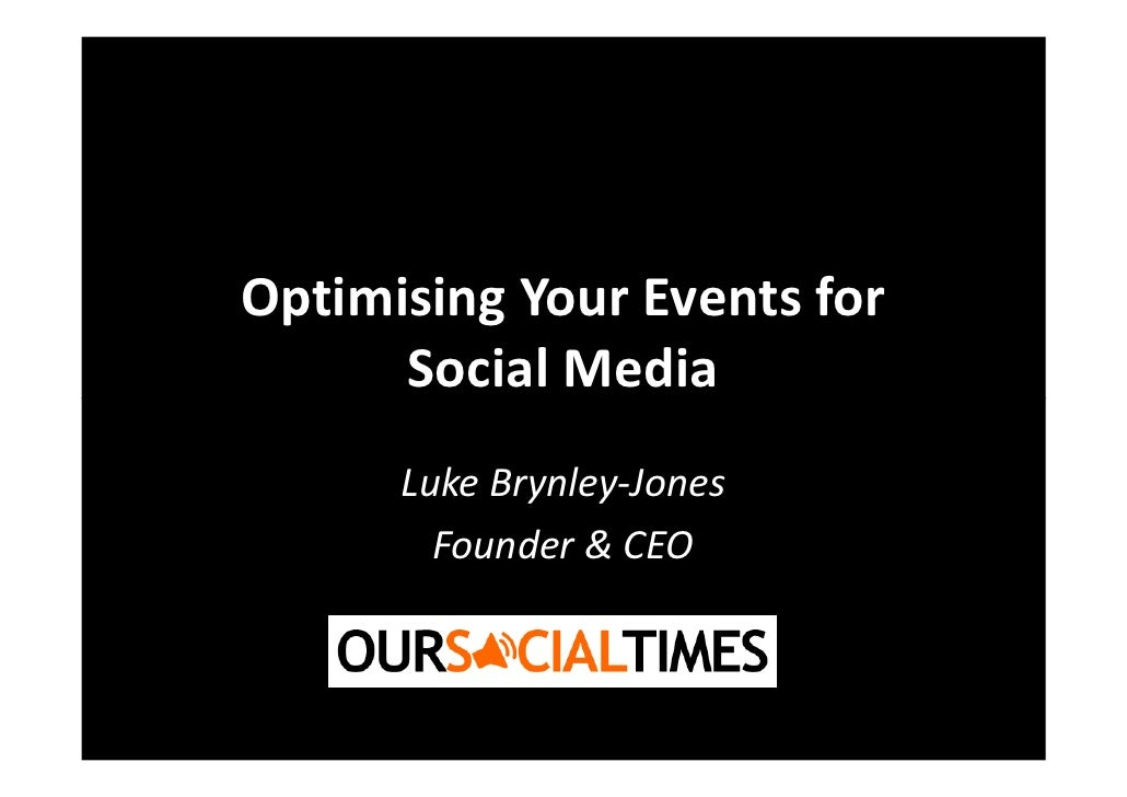 Optimising Your Events for Social Media