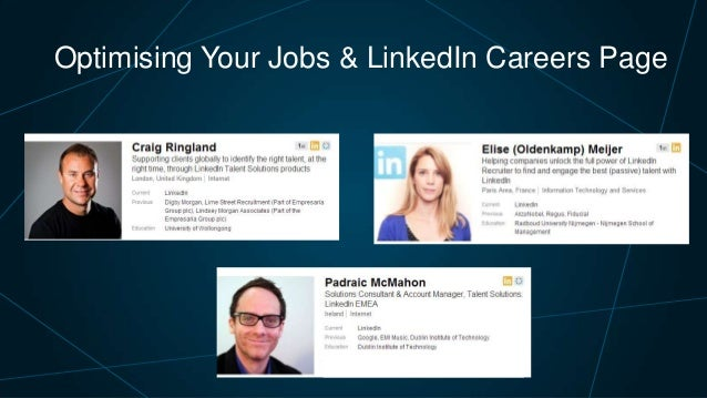 Optimising Your Jobs & LinkedIn Career Page | Talent Connect London 2013