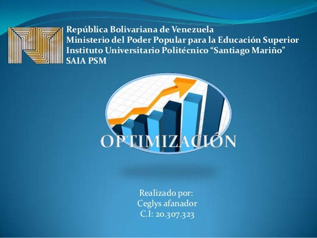 República Bolivariana de VenezuelaMinisterio del Poder Popular para la Educación SuperiorInstituto Universitario Politécni...