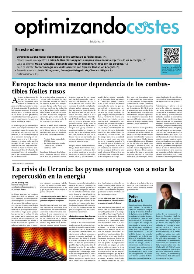 Cost Savings - Expense Reduction Analysts European Quarterly Newsletter