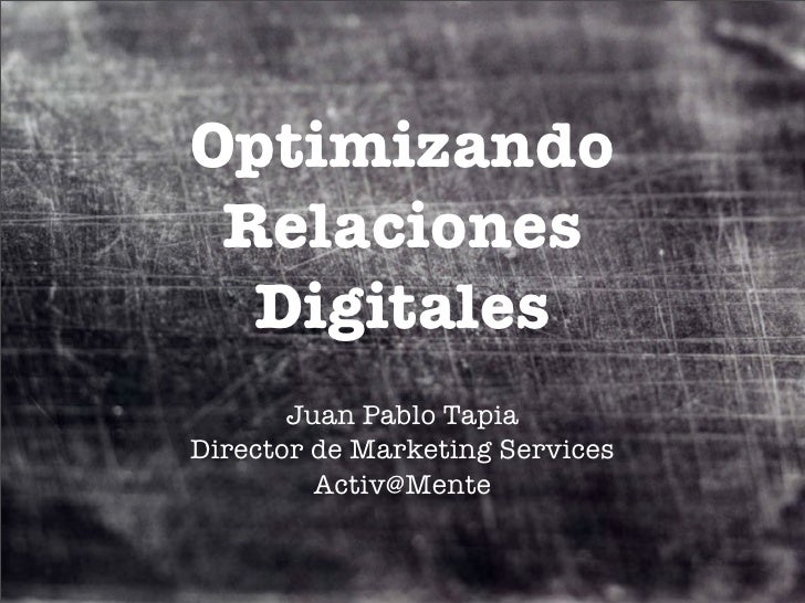 Optimizando Relaciones Digitales UDD