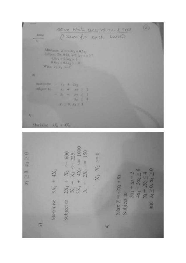 Optimization assignment 2