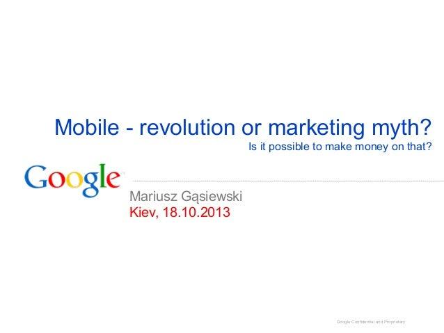 Мобильные сервисы - революция или миф? Можно ли на этом зарабатывать? (Optimization 2013)