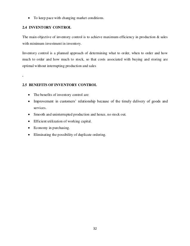 inventory management project review of literature Review of literature inventory management is a major area of operations  general view of the inventory management practices of research there is a.