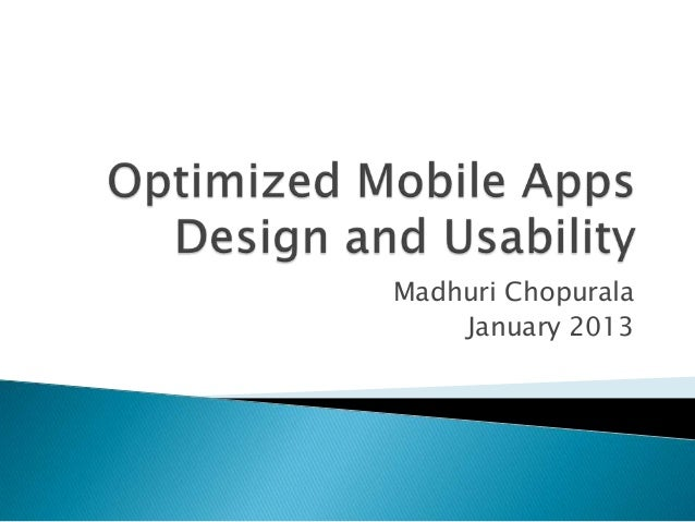 Optimized mobile apps