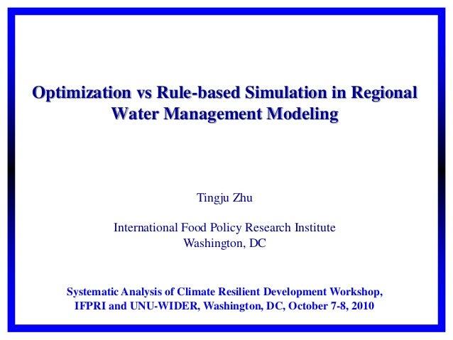 Optimization vs rule-based simulation in regional water management modeling