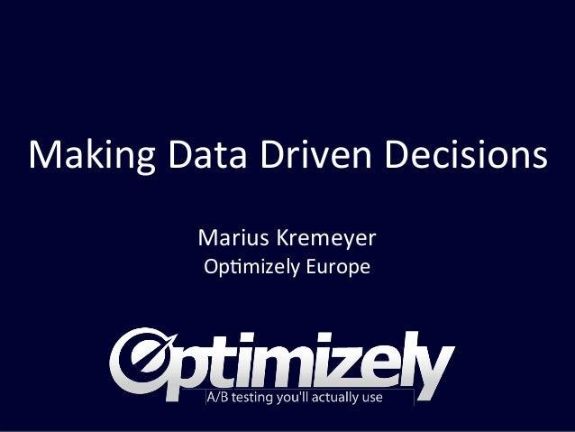 Optimizely introduction - Marius Kremeyer