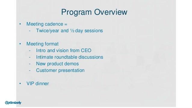 Dinner Program Format Dinner Program Overview