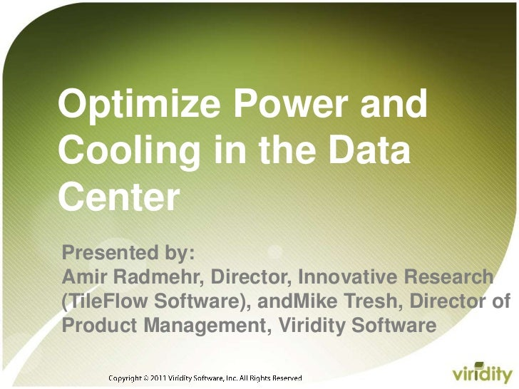 Optimize power and cooling final 1