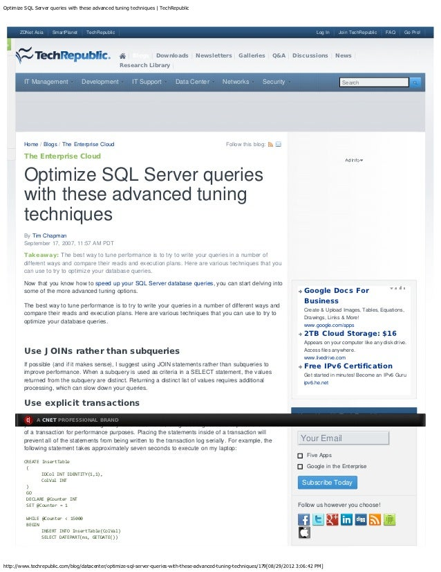 Optimize sql server queries with these advanced tuning techniques   tech repu